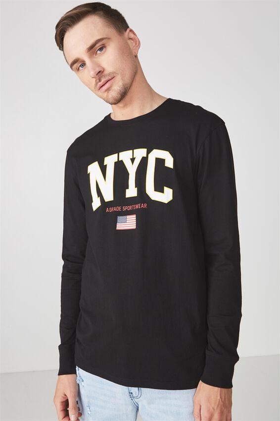 Tbar Long Sleeve, BLACK/NYC SPORTSWEAR