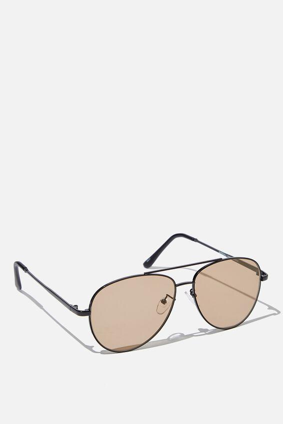 Marshall Sunglasses, MATTE BLACK BLACK GOLD FLAT