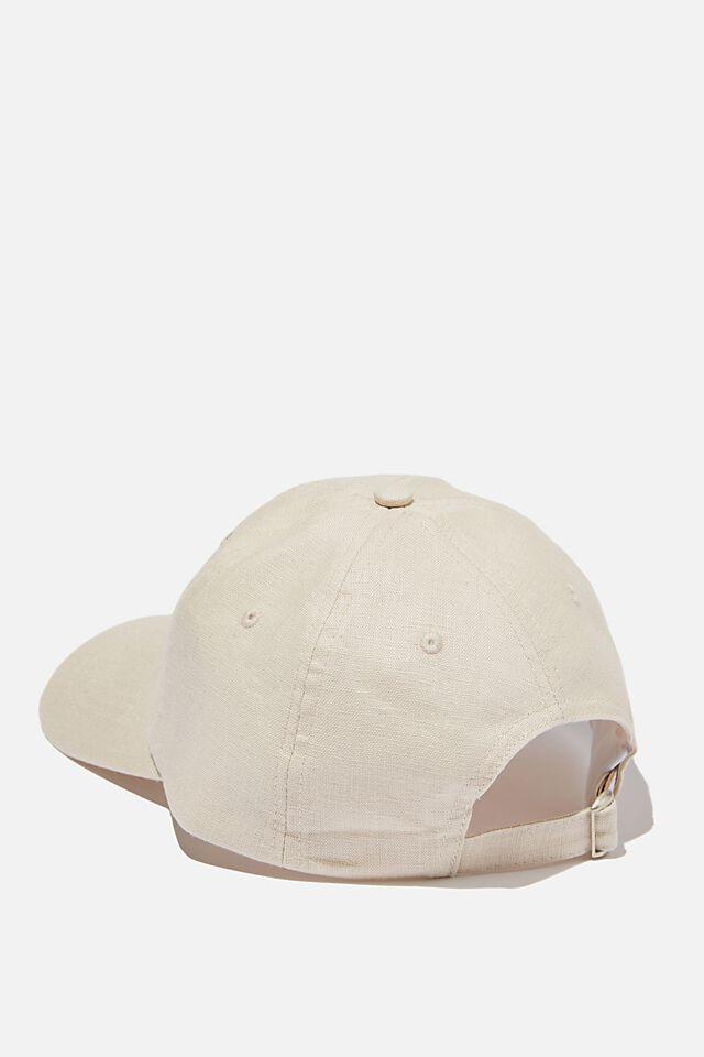 Strap Back Dad Hat, ECRU TEXTURE/STUDIO JOURNAL
