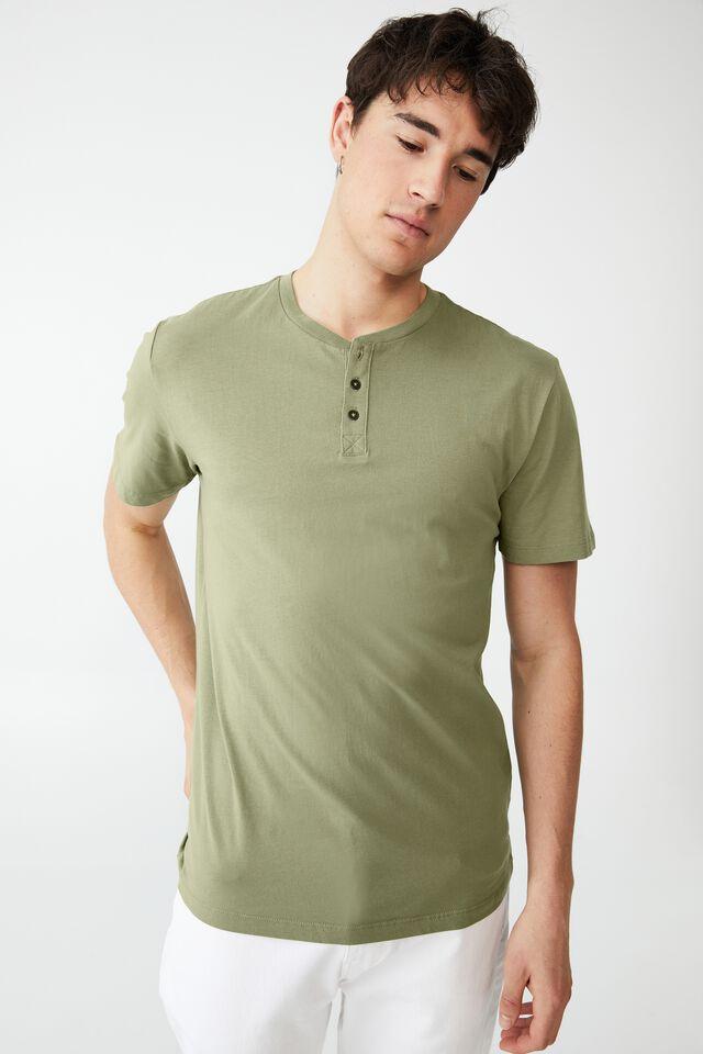 Organic Henley T-Shirt, SAGE