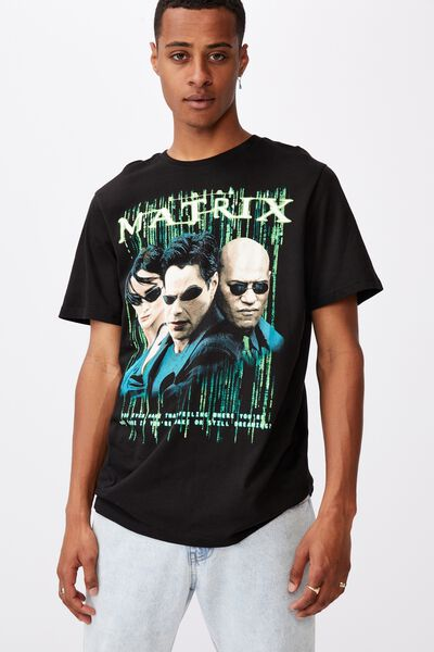 Tbar Collab Movie And Tv T-Shirt, LCN WB BLACK/THE MATRIX - DREAMING?