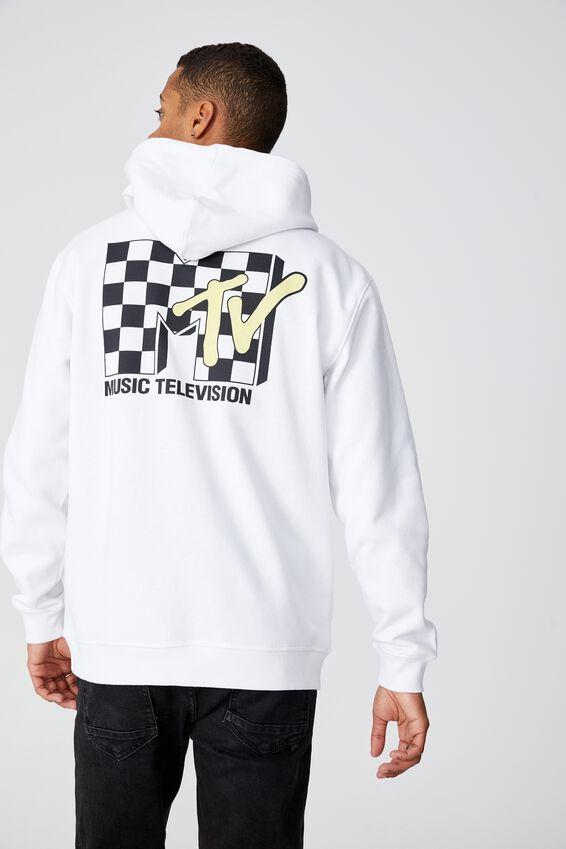 Collab Fleece Pullover, LCN MTV WHITE/MTV CHECKER LOGO
