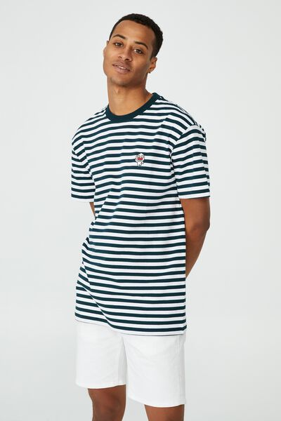 Kakao Friends T-Shirt, LCN KAK WHITE/DEEP SEA TEAL STRIPE/KAKAO - AP