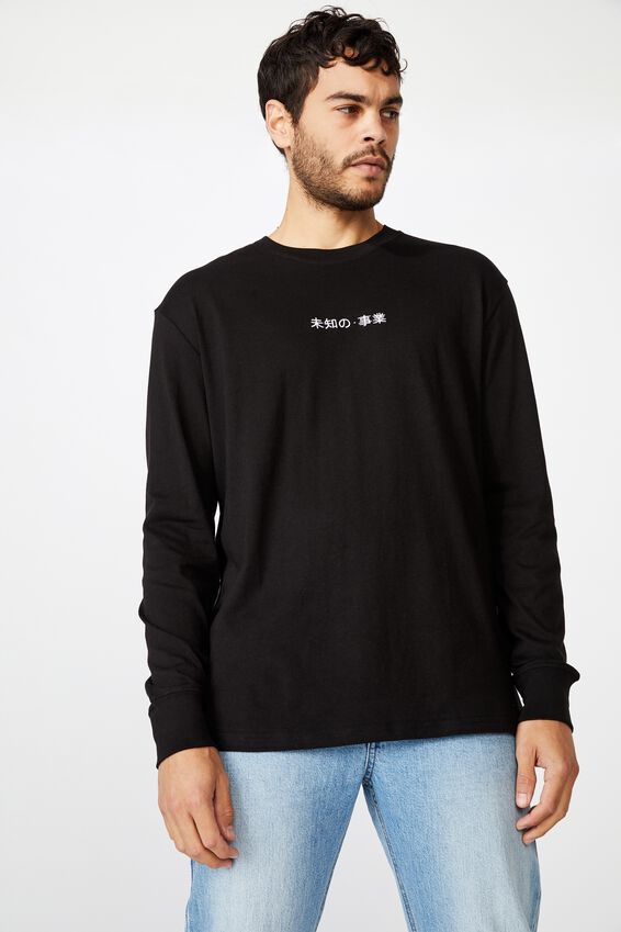 Tbar Long Sleeve, BLACK/PEACE