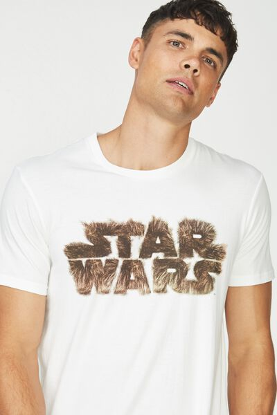 Tbar Collaboration Tee, LC WHITE/STAR WARS - WOOKIEE LOGO