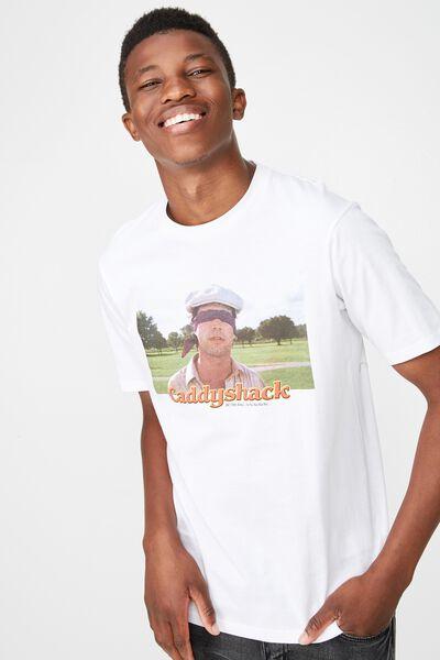 Tbar Collab Movie And Tv T-Shirt, LC SK8 WHITE/CADDYSHACK NA-NA-NA-NA