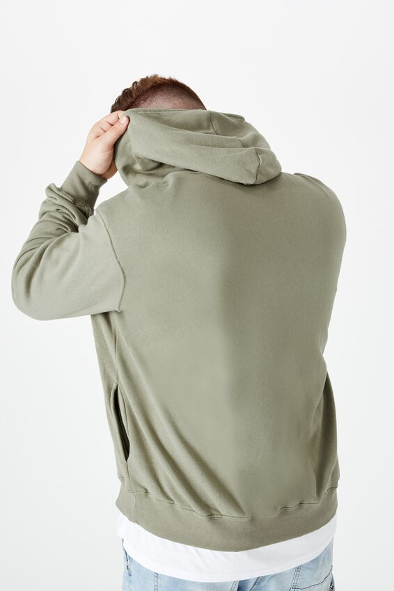 Bg Fleece Pullover 2, MOSS STONE/ORIGINAL STEEL