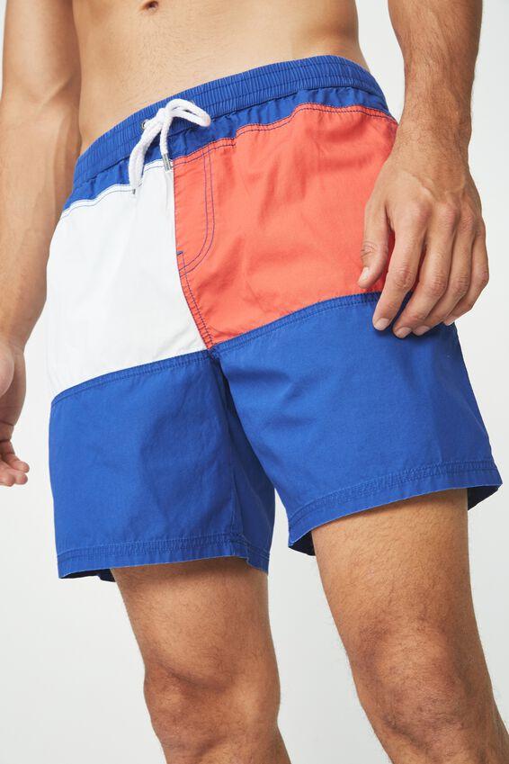 Hoff Short, BLUE/PANEL BLOCK