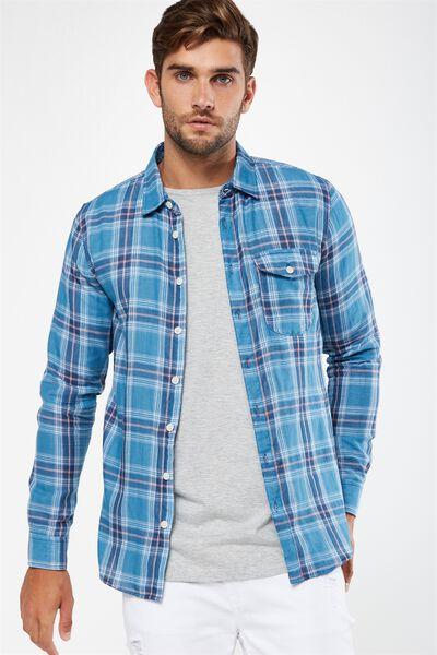 91 Shirt, BLUE CHECK