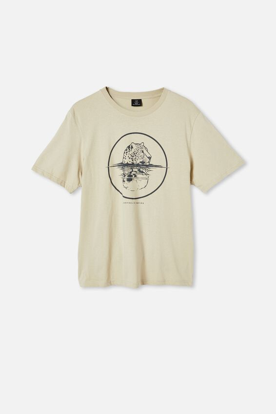 Tbar Art T-Shirt, PALE SAND/ANIMALS