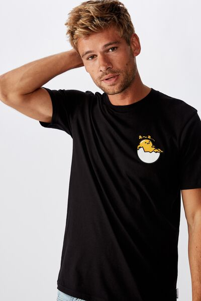 Tbar Collab Character T-Shirt, LCN SAN BLACK/GUDETAMA - REST