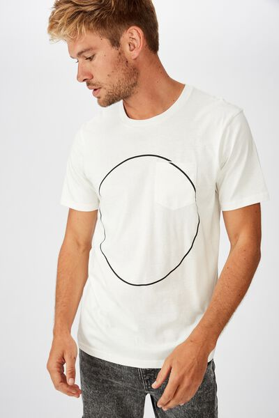Tbar Art T-Shirt, VINTAGE WHITE/INTERNAL POCKET