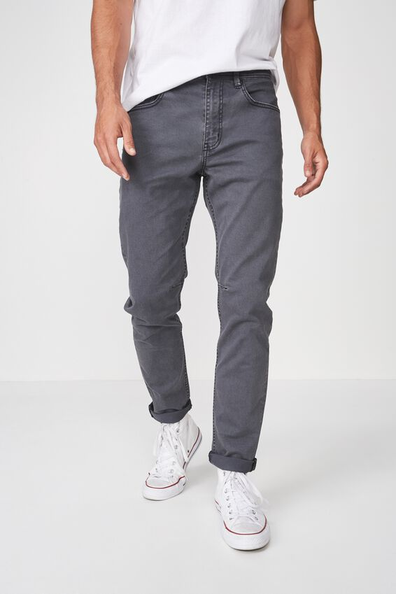 Tapered Leg Jean, GUNMETAL GREY
