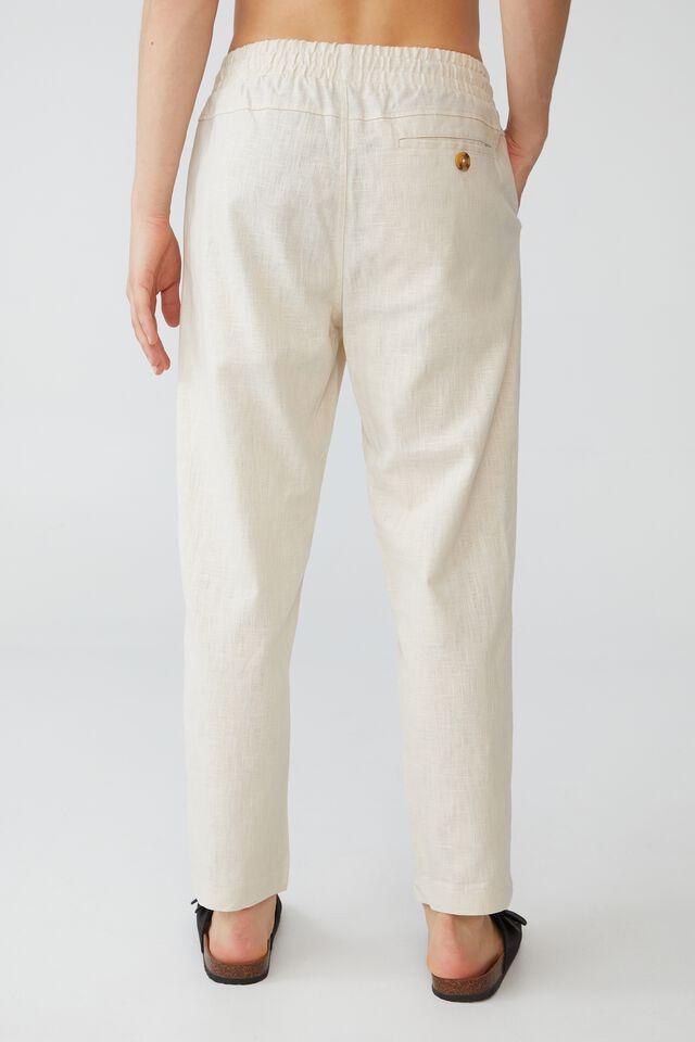 East Coast Textured Pant, OATMEAL
