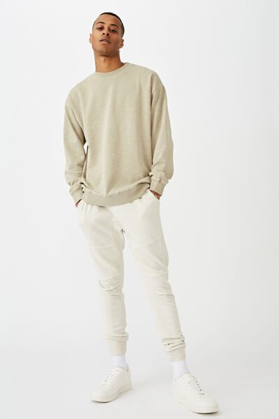 Pigment Dyed Oversized Crew, SAND