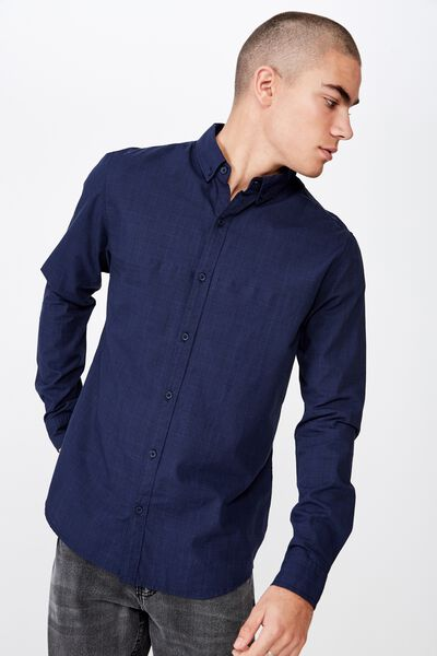 Brunswick Shirt 3, PRINCE OF WALES NAVY CHECK
