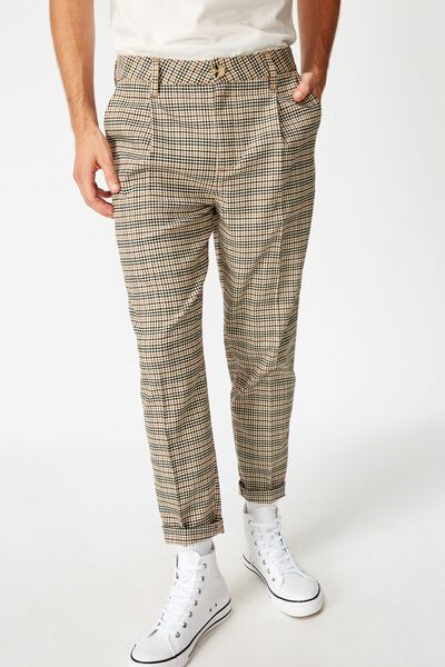 Oxford Trouser, BROWN MINI CHECK