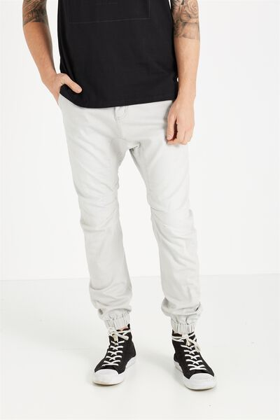 Slim Denim Jogger, BLEACHED OUT GREY