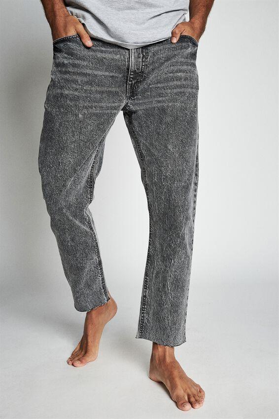 Raw Crop Jean, AGED GREY
