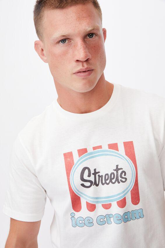 Tbar Collab Pop Culture T-Shirt, LCN STR VINTAGE WHITE/STREETS-VINTAGE LOGO