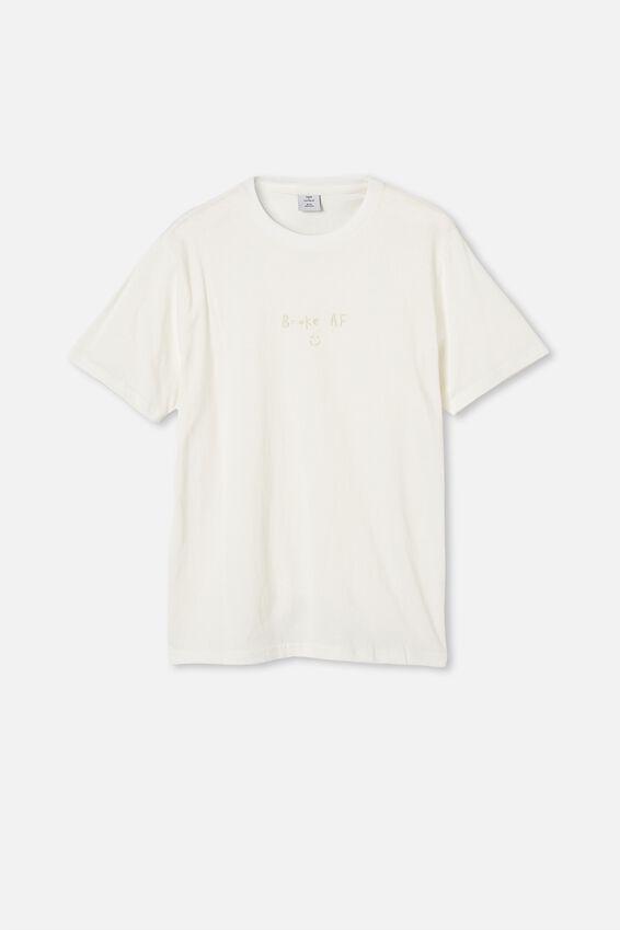 Tbar Text T-Shirt, VINTAGE WHITE/BROKE A_F