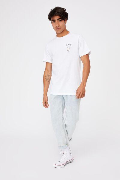 Tbar Art T-Shirt, WHITE/GET WEIRD