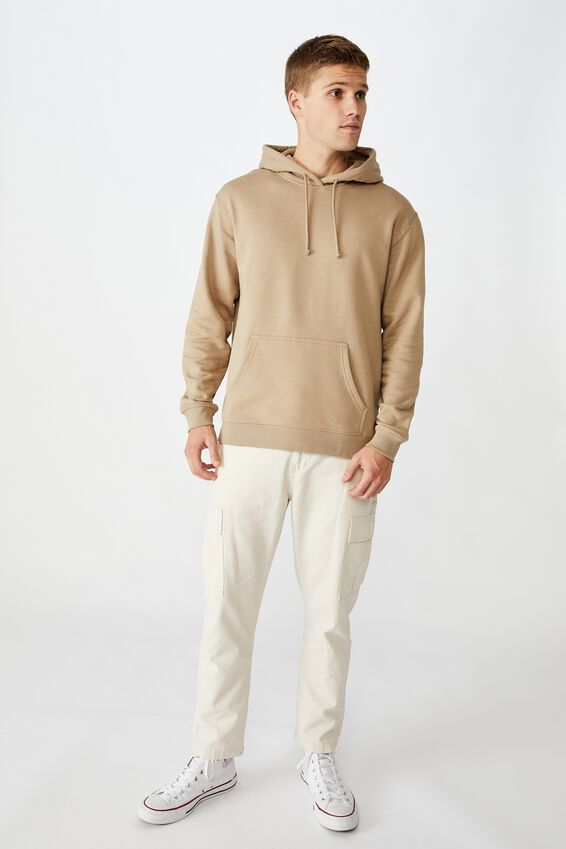 Essential Fleece Pullover, GRAVEL STONE