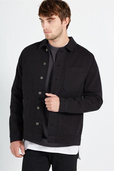 Worker Jacket, WASHED BLACK