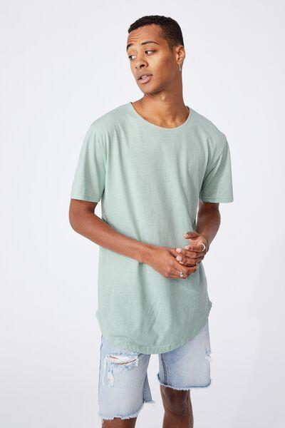 Longline Scoop Burnout T-Shirt, MIST BLUE