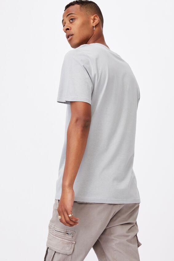 Essential Vee Neck T-Shirt, BLUE HAZE