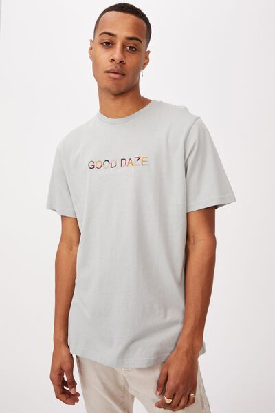 Tbar Text T-Shirt, BLUE HAZE/GOOD DAZE COLOURS