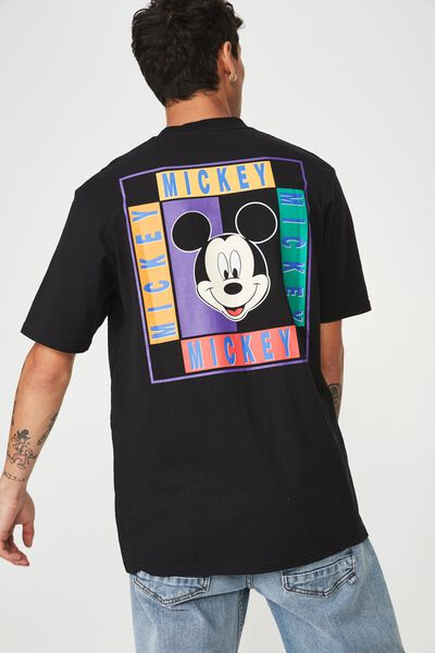 Character T-Shirt, LC SK8 BLACK/MICKEY - 90S THROWBACK