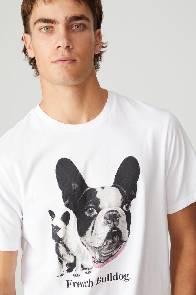 Tbar Art T-Shirt, WHITE/FRENCH BULLDOG
