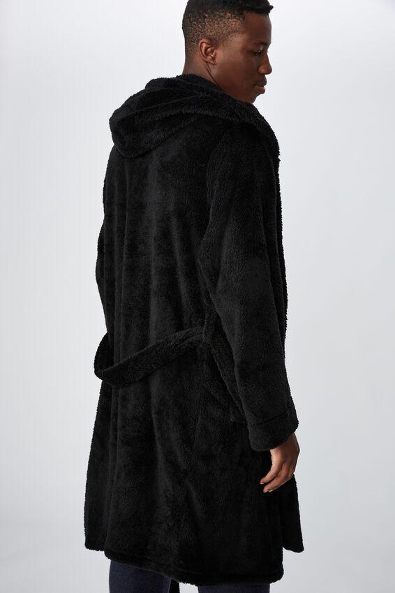 Mens Plush Gown, BLACK