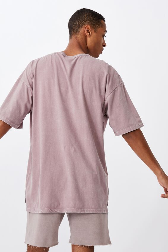 Oversized Droptail Tee, PLUM