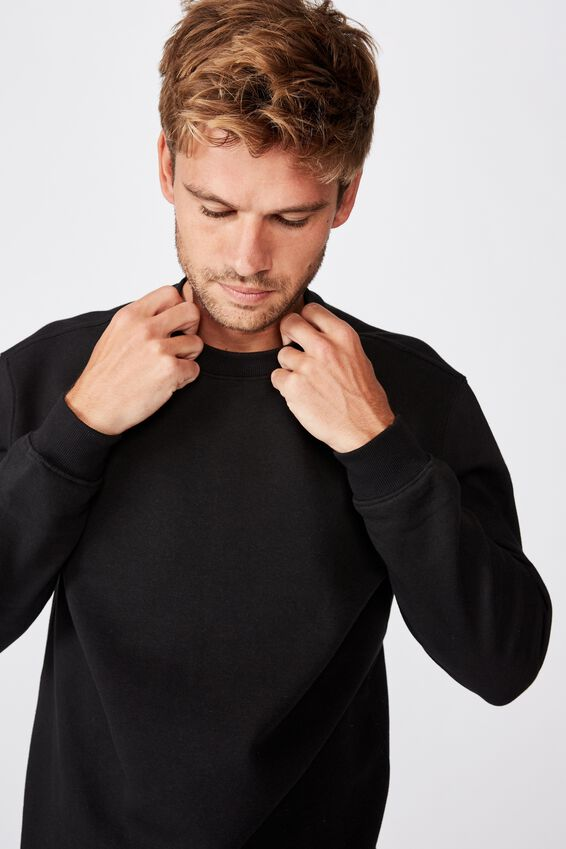 Essential Crew Fleece, BLACK