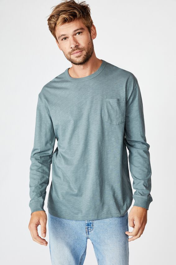 Otis Long Sleeve, SMOKEY TEAL