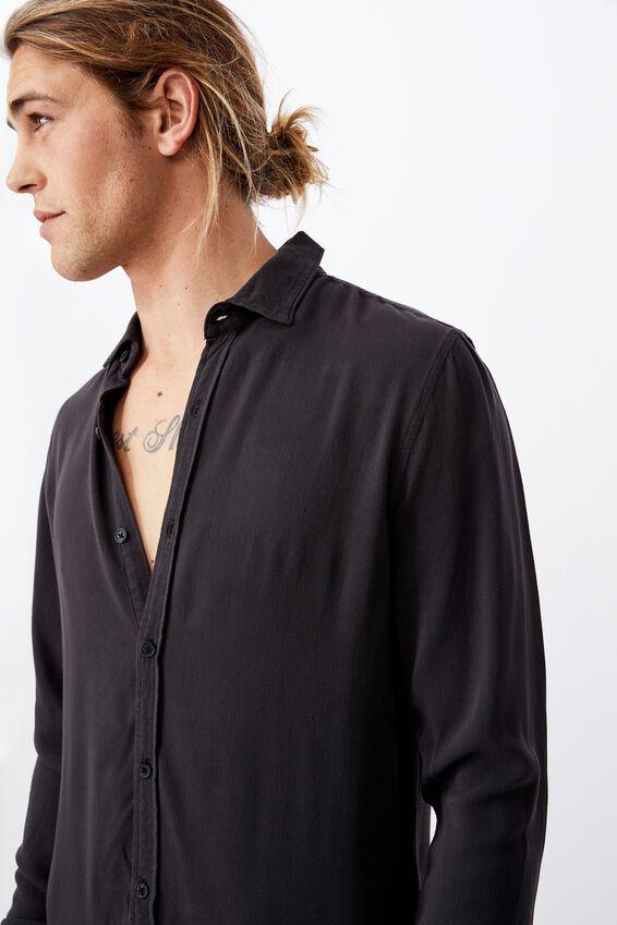 91 Long Sleeve Shirt, WASHED BLACK