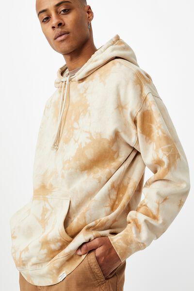 Drop Shoulder Pullover Fleece, SANDY DESERT TIE DYE
