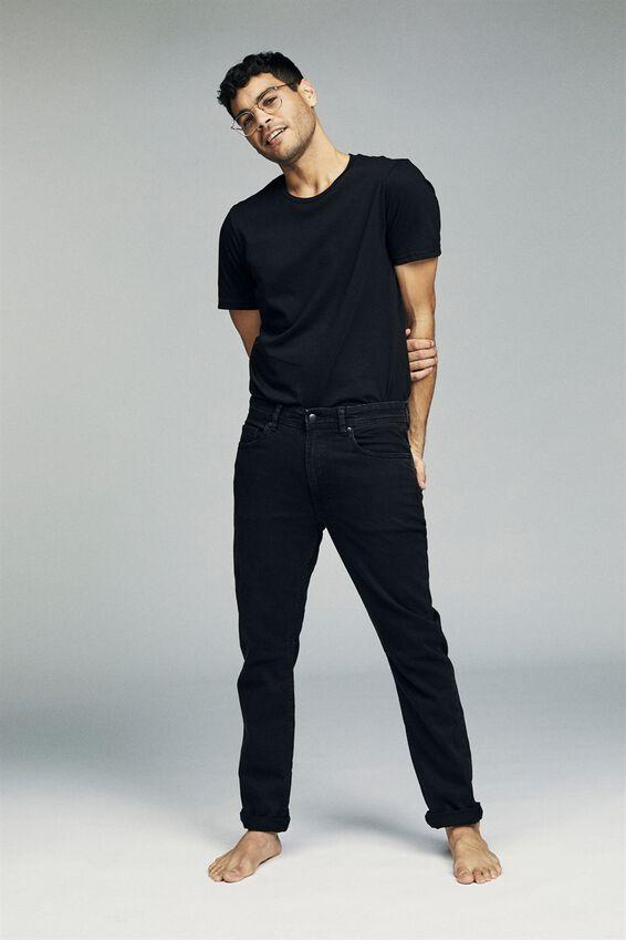 Tapered Leg Jean, WORN IN BLACK