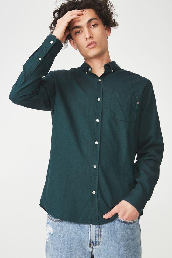 Brunswick Shirt 3, BOTTLE GREEN OXFORD