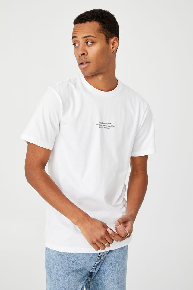 Tbar Text T-Shirt, WHITE/BLANK SLATE PROJECTS