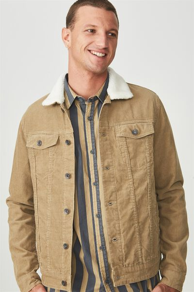 Sherpa Collar Rodeo Jacket, SAND