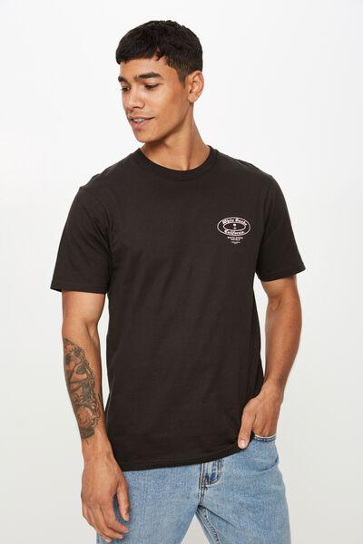 Tbar Souvenir T-Shirt, WASHED BLACK/WHITE SANDS