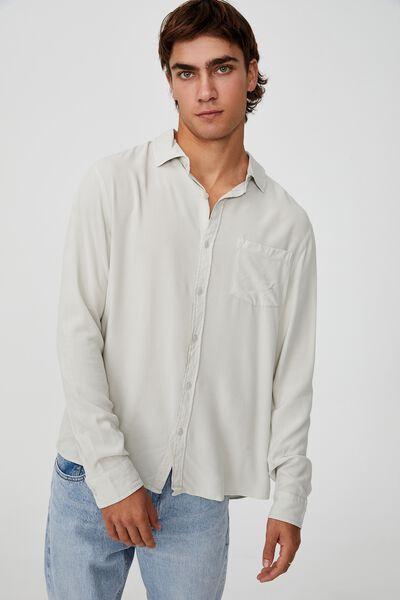 Cayman Long Sleeve Shirt, ICE GREY