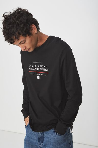 Tbar Long Sleeve, BLACK/NEW YORK STATE OF MIND