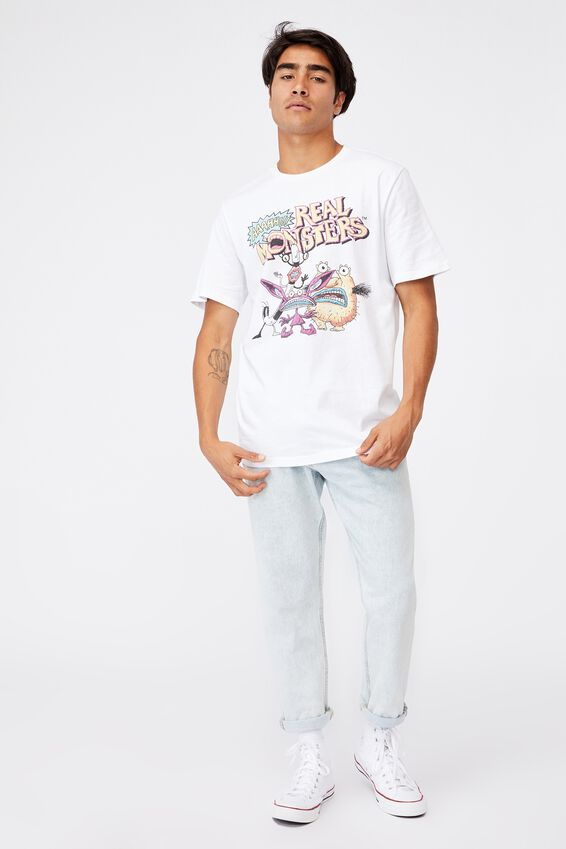 Tbar Collab Character T-Shirt, LCN NIC WHITE/AAAHH!!! REAL MONSTERS-GROUP