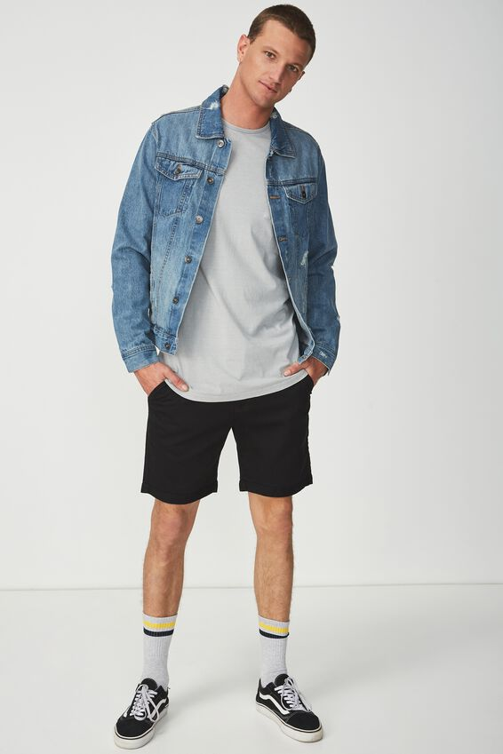 Tailored Casual Short, BLACK