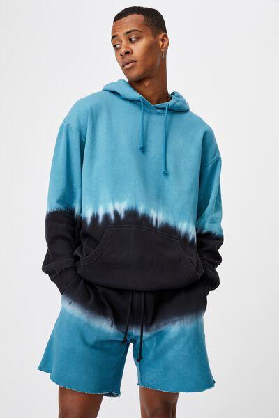Premium Fleece Short, BLACK BLUE DIP DYE