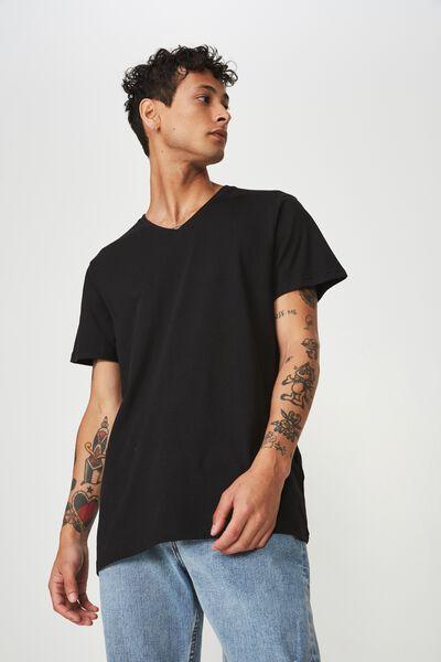 Essential Vee Neck, BLACK